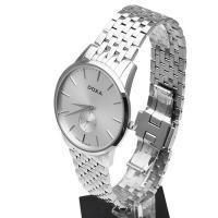 Doxa 105.10.021.10 zegarek srebrny klasyczny Slim Line bransoleta