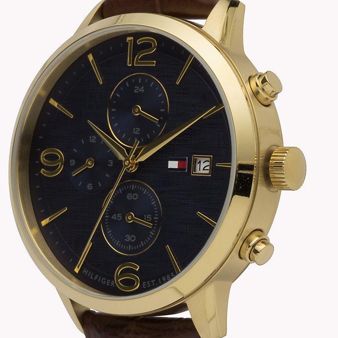 Tommy Hilfiger 1710359 zegarek złoty klasyczny Męskie pasek