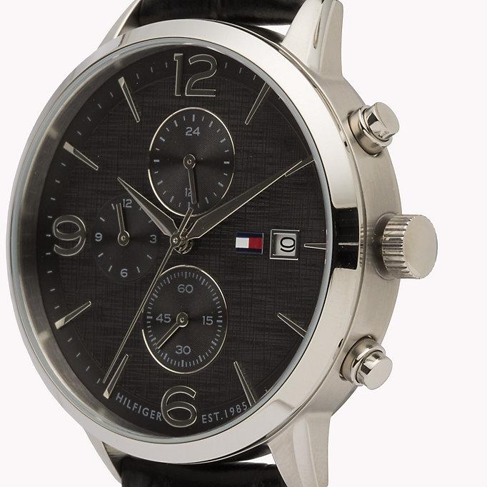 Tommy Hilfiger 1710361 zegarek srebrny klasyczny Męskie pasek