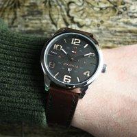 Tommy Hilfiger 1791157 zegarek srebrny klasyczny Męskie pasek