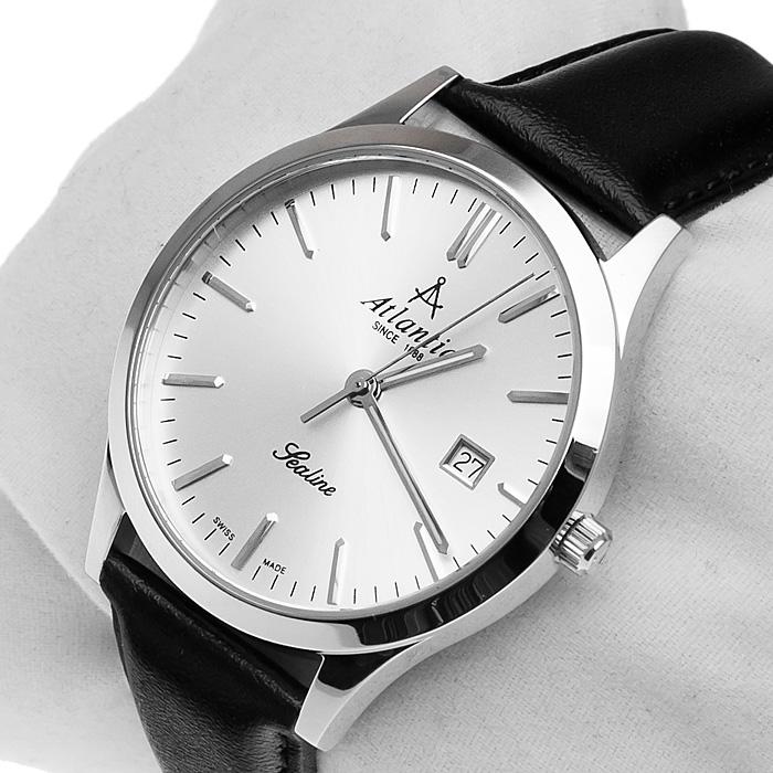 Atlantic 62341.41.21 zegarek srebrny klasyczny Sealine pasek