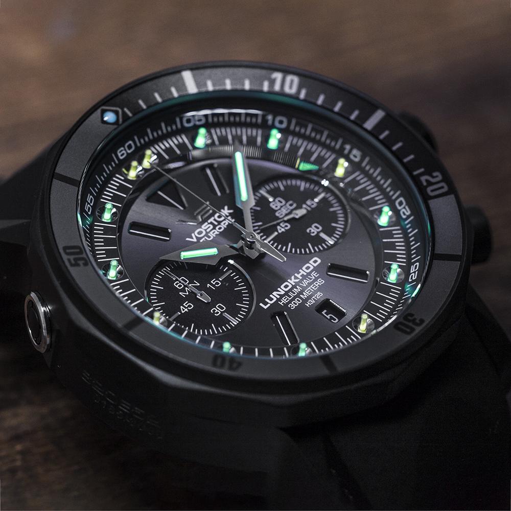 Vostok Europe 6S21-620E529 zegarek męski sportowy Lunokhod pasek