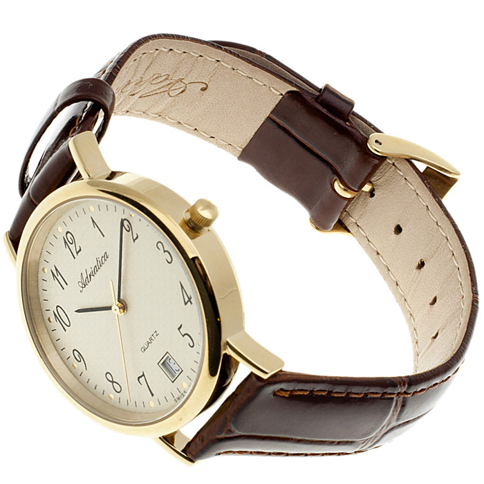 zegarek Adriatica A1003.1221Q złoty Pasek