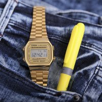 Casio Vintage A168WG-9EF męski zegarek VINTAGE Maxi bransoleta