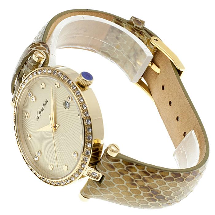zegarek Adriatica A3695.1241QZ brązowy Pasek