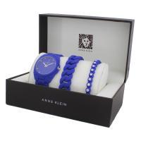 Anne Klein AK-1957CBST zegarek niebieski fashion/modowy Pasek bransoleta