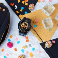 Casio BA-110-1AER zegarek czarny sportowy Baby-G pasek