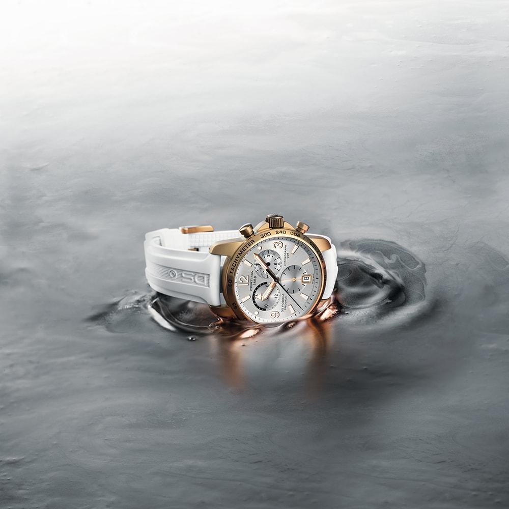 zegarek Certina C001.639.97.037.01 DS Podium Chronograph GMT Aluminium męski z chronograf DS Podium