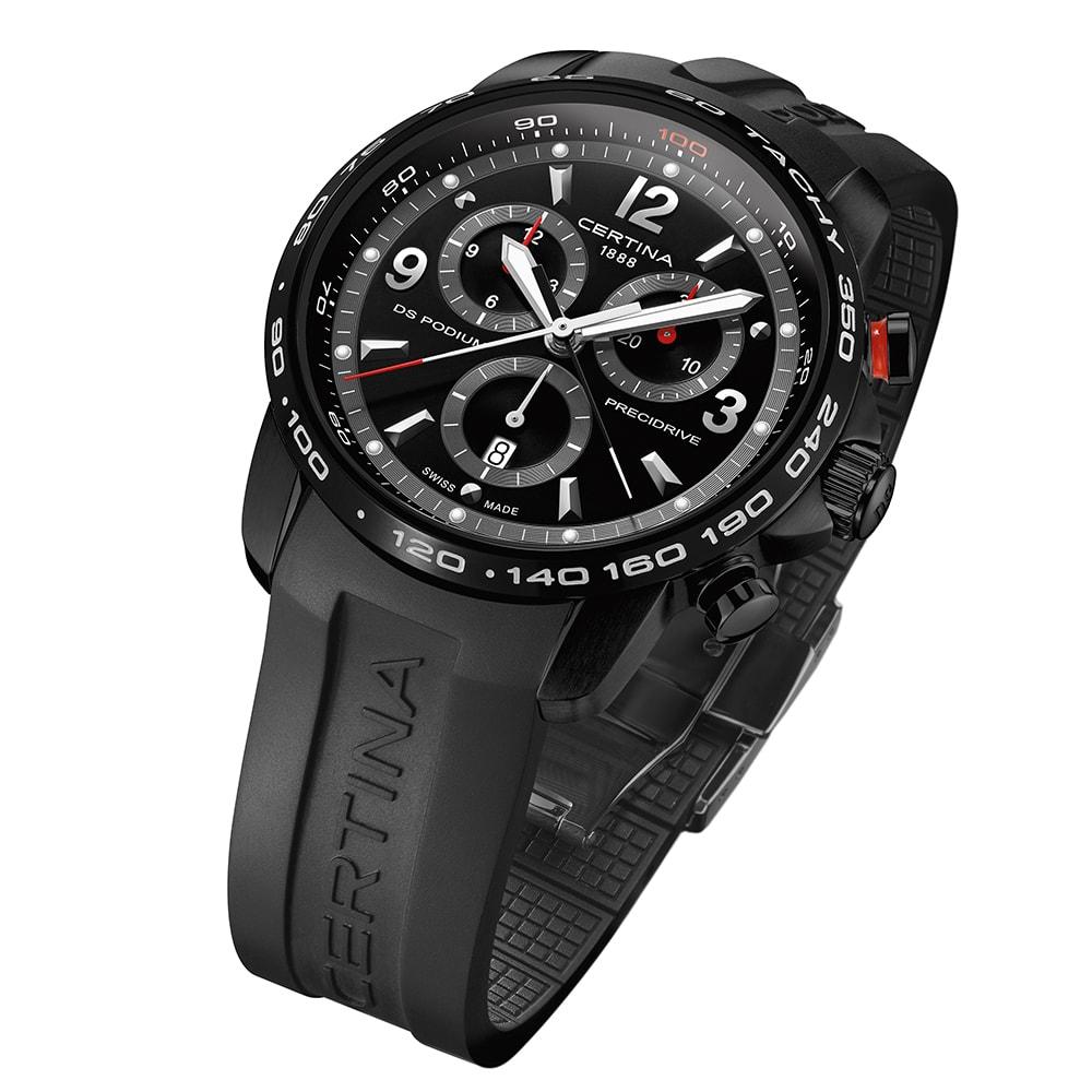 zegarek Certina C001.647.17.057.00 czarny DS Podium