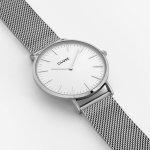 Cluse CW0101201002 La Boheme Silver/White zegarek damski klasyczny mineralne