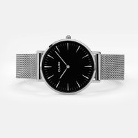 Cluse CW0101201004 Silver/Black La Boheme klasyczny zegarek srebrny