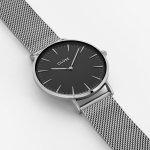 Cluse CW0101201004 La Boheme Silver/Black zegarek damski klasyczny mineralne
