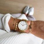 Cluse CL18109 Gold/White La Boheme Mesh klasyczny zegarek złoty