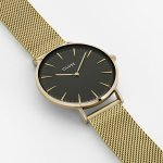 Cluse CW0101201014 Gold/Black La Boheme fashion/modowy zegarek złoty