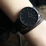 Cluse CW0101201005 Full Black La Boheme fashion/modowy zegarek czarny