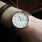 Cluse CW0101201001 La Boheme Rose Gold/White zegarek damski fashion/modowy mineralne