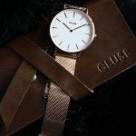 Cluse CW0101201001 Rose Gold/White La Boheme fashion/modowy zegarek różowe złoto