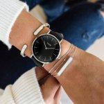 Cluse CL18201 La Boheme Silver Black/Black zegarek damski klasyczny mineralne