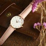 Cluse CW0101203006 Minuit Rose Gold White/Pink zegarek damski klasyczny mineralne