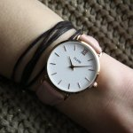 Cluse CW0101203006 Rose Gold White/Pink Minuit klasyczny zegarek różowe złoto