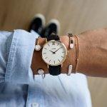 Cluse CW0101203020 Minuit Rose Gold White/Black zegarek damski klasyczny mineralne