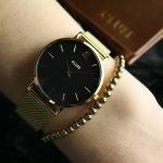 Cluse CL30012 Minuit Mesh Gold/Black zegarek damski fashion/modowy mineralne