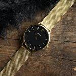 Cluse CL30012 Mesh Gold/Black Minuit fashion/modowy zegarek złoty