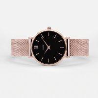 Cluse CW0101203003 Minuit Mesh Rose Gold/Black zegarek damski fashion/modowy mineralne