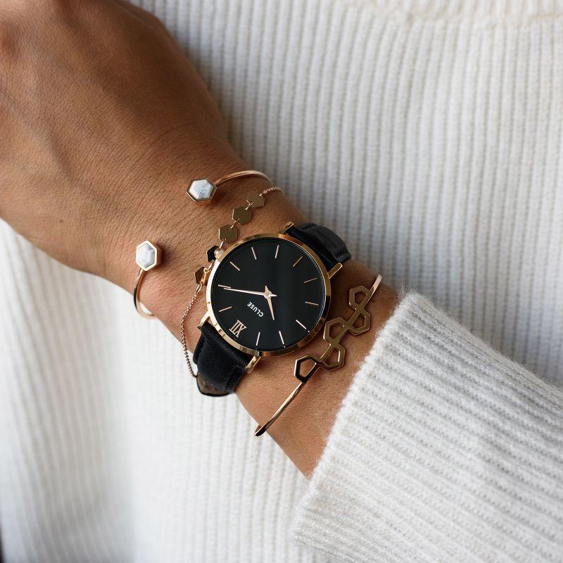 Cluse CW0101203013 zegarek damski klasyczny Minuit pasek