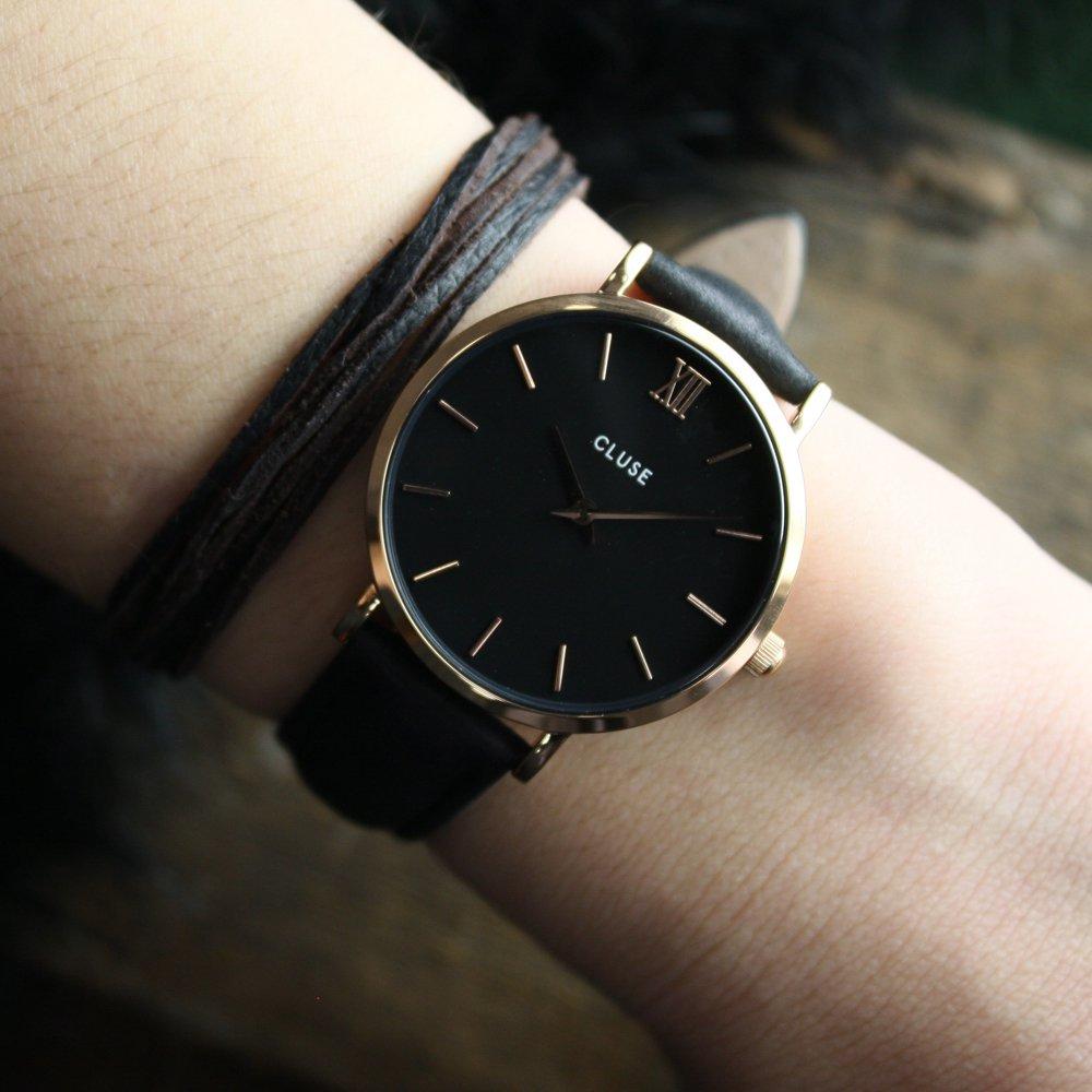 zegarek Cluse CW0101203013 różowe złoto Minuit