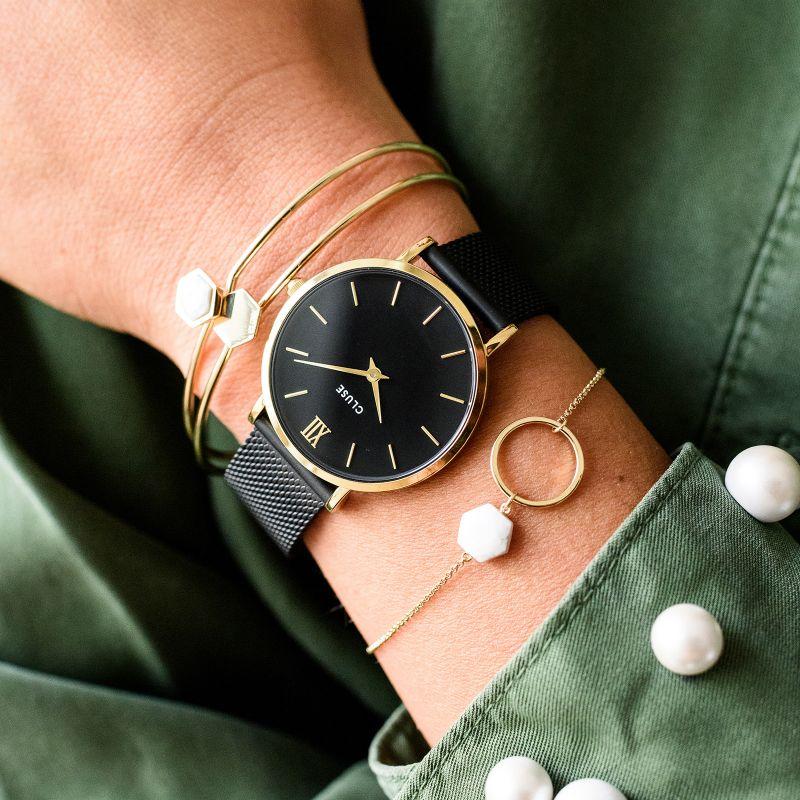 Cluse CW0101203009 zegarek damski klasyczny Minuit bransoleta