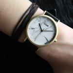 Cluse CL40003 La Roche Gold White Marble/Black zegarek damski klasyczny mineralne