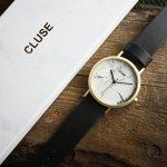 Cluse CL40003 Gold White Marble/Black La Roche klasyczny zegarek złoty