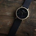 Cluse CL40004 Gold Black Marble/ Black La Roche klasyczny zegarek złoty