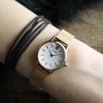 zegarek Cluse CW0101206002 Mesh Rose Gold/White La Vedette mineralne