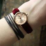 Cluse CL50018 La Vedette Rose Gold Red Velvet Limited Edition zegarek damski klasyczny mineralne