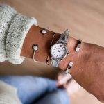 Cluse CL50021 La Vedette Silver White/Silver Metallic zegarek damski klasyczny mineralne