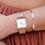 Cluse CL60003 La Tetragone Rose Gold Mesh/White zegarek damski fashion/modowy mineralne