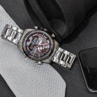 Edifice ECB-800DB-1AEF BLUETOOTH SYNC LCD EDIFICE Premium sportowy zegarek srebrny