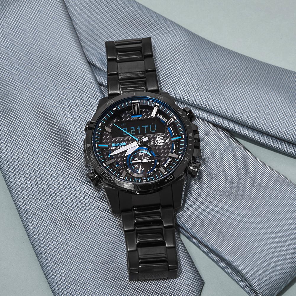 Edifice ECB-800DC-1AEF zegarek męski sportowy EDIFICE Premium bransoleta