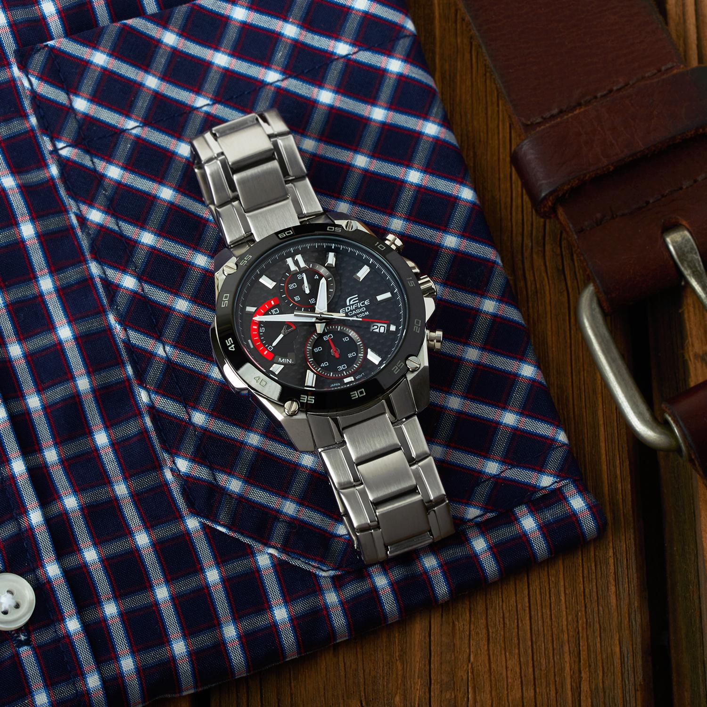 Edifice EFR-557CDB-1AVUEF zegarek srebrny klasyczny EDIFICE Momentum bransoleta