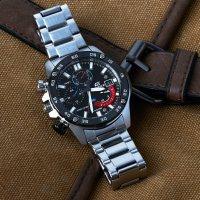 Edifice EFR-558DB-1AVUEF zegarek srebrny sportowy EDIFICE Momentum bransoleta