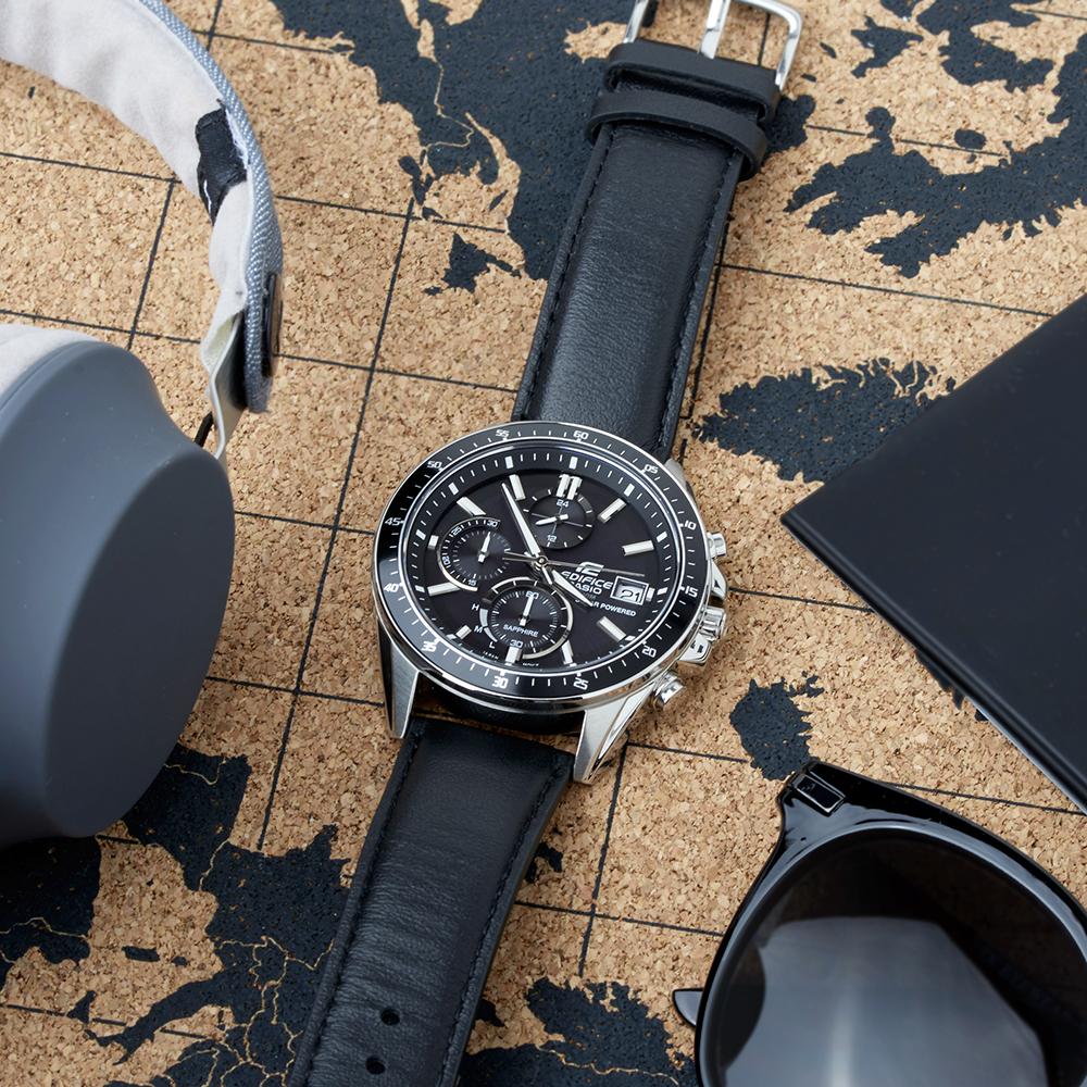 Edifice EFS-S510L-1AVUEF EDIFICE Premium klasyczny zegarek srebrny