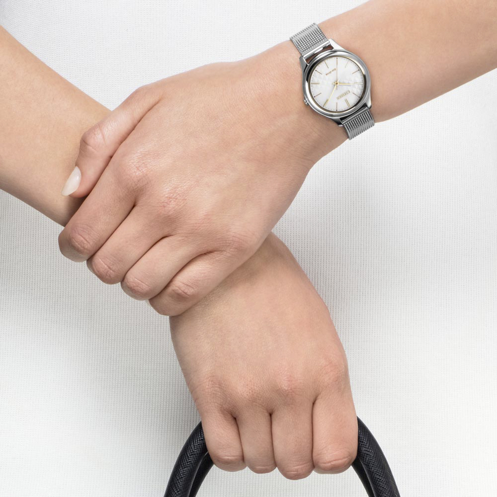 zegarek Citizen EM0504-81A srebrny Elegance