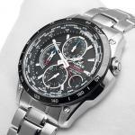 Edifice EQW-500DBE-1AVER EDIFICE Momentum sportowy zegarek srebrny