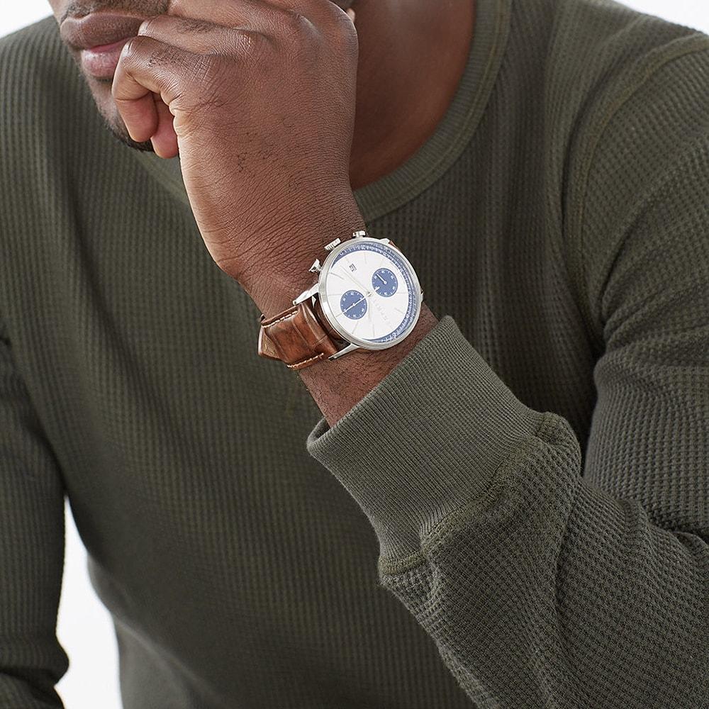 Esprit ES109181001 zegarek srebrny klasyczny Męskie pasek