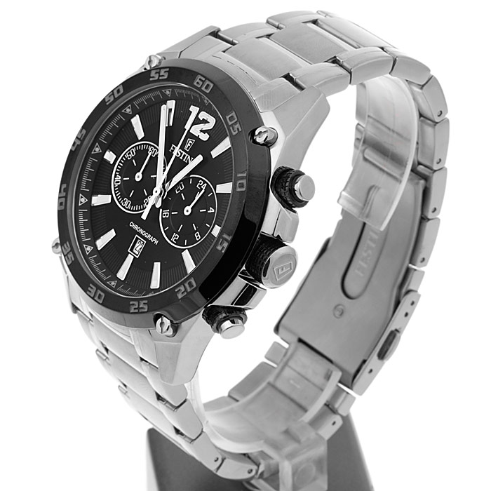 Festina F16680-4 Chronograph Chronograf sportowy zegarek srebrny