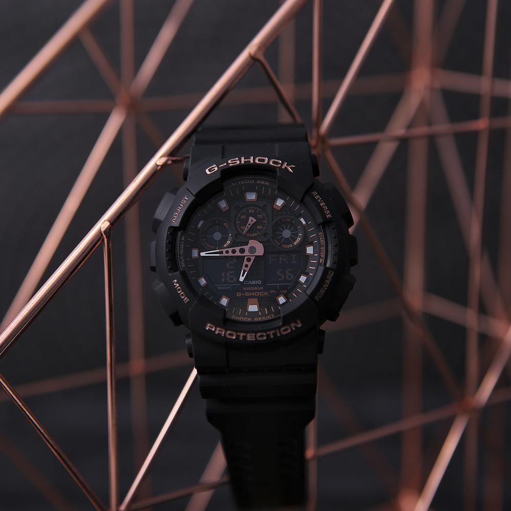G-Shock GA-100GBX-1A4ER zegarek czarny sportowy G-SHOCK Original pasek