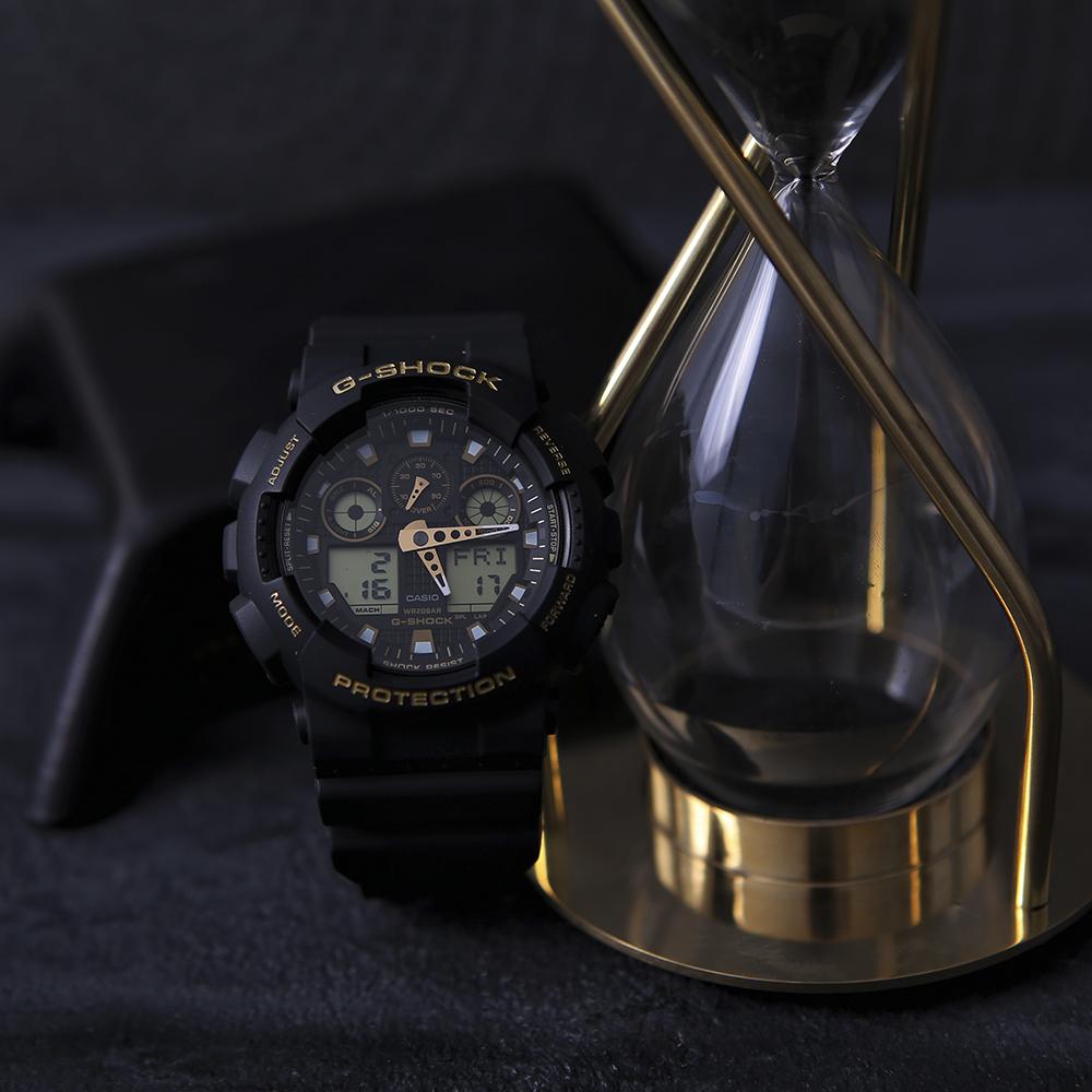 G-Shock GA-100GBX-1A9ER zegarek czarny sportowy G-SHOCK Original pasek