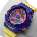 G-Shock GA-110HC-6AER G-Shock sportowy zegarek fioletowy